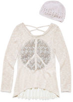 Knitworks Knit Works Long Sleeve Layered Top - Big Kid Girls