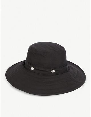 Isabel Benenato Stud-embellished woven sun hat