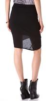 Helmut Lang HELMUT Kinetic Jersey Side Gather Skirt