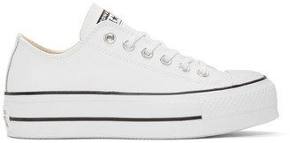 Converse White Leather Chuck Taylor All Star Lift Platform Sneakers