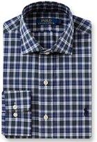 Polo Ralph Lauren Standard Fit Spread Collar Tartan Plaid Dress Shirt
