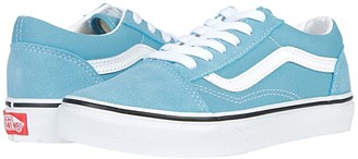 Vans Kids Old Skool (Big Kid) (Delphinium Blue/True White) Kids Shoes