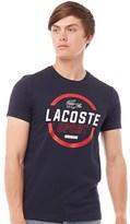 Lacoste Mens Sport Tennis Technical Jersey T-Shirt Navy Blue