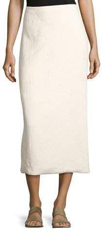 The Row Odille Silk Long-Sleeve Shirt, Light Beige