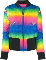 Perfect Moment Glacier rainbow quilted bomber jacket