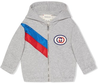 Gucci Kids ribbon zip-up hoodie