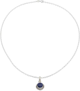 Novica Artisan Lapis Pendant with Chain