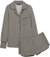 Three J NYC Jane Striped Silk Pajama Set - Black
