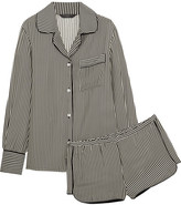 Three J NYC Jane Striped Silk Pajama Set - x large