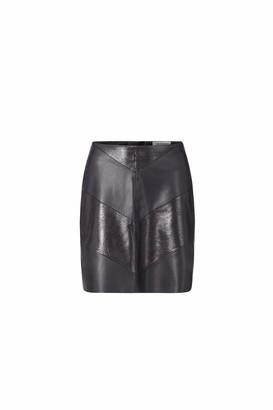 Rich & Royal rich&royal Women's Skirt Fake Leather Mix