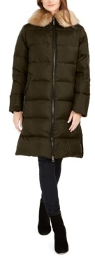 Michael Kors Michael Faux-Fur Collar Down Puffer Coat