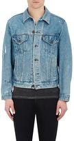 Resurrect by Night Men's Painted Cotton Denim Jacket