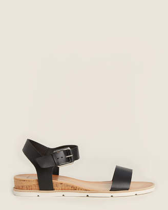 Dolce Vita Black Victor Wedge Sandals