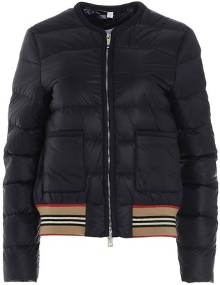 Burberry Icon Stripe Detail Puffer Jacket