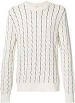 Maison Margiela shifting stitch jumper - men - Cotton/Nylon - L