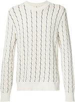 Maison Margiela shifting stitch jumper