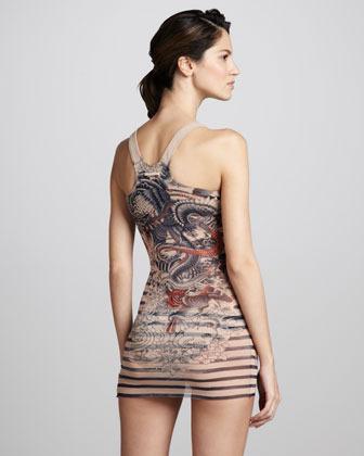Jean Paul Gaultier Tattoo-Print Tankini