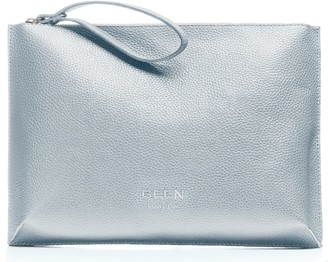 Been London Hoxton Clutch in White Pebble
