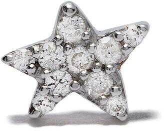 Feidt Paris 18kt white gold Bo Etoile In The Moon For Love diamond star stud