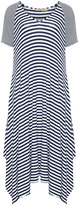 Isolde Roth Plus Size Striped jersey midi dress