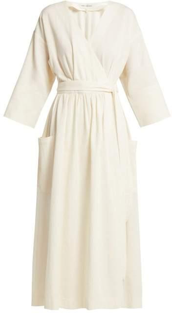 Mara Hoffman Anya Organic Cotton Wrap Midi Dress - Womens - Cream