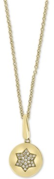 "Effy Diamond Star 18"" Pendant Necklace (1/10 ct. t.w.) in 14k Gold"