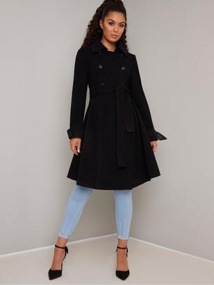 Chi Chi London Safia Coat - Black