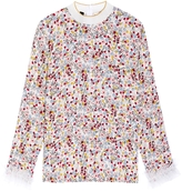 Mother of Pearl Lucas Ruffle Print Top