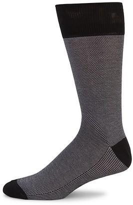 Saks Fifth Avenue Birds Eye Cotton-Blend Socks