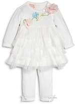 Biscotti Infant Girls' Tiered Ruffle Dress & Leggings Set - Sizes 3-9 Months