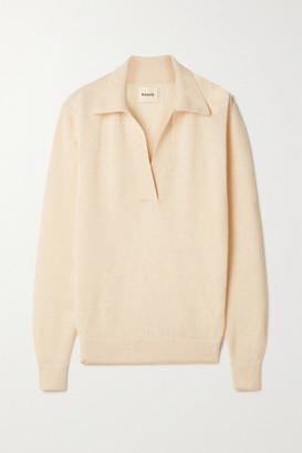 KHAITE Jo Cashmere-blend Sweater - Ecru