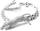 Cartier Maillon Panthere Panther 18K White Gold Paved Diamond Necklace