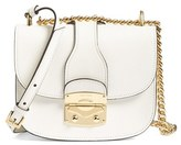 Miu Miu Madras Leather Crossbody Bag - White