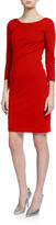 Emporio Armani Milano Jersey Faux Wrap Dress