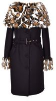 Moschino Fur Trimmed Coat