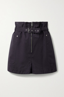 Etoile Isabel Marant Parana Cotton And Linen-blend Belted Shorts