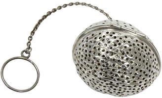 One Kings Lane Vintage Antique Sterling Silver Walnut Tea Ball - Rose Victoria