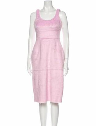 Ambush Scoop Neck Midi Length Dress w/ Tags Pink