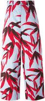Marni Swash print trousers - women - Cotton/Linen/Flax - 40