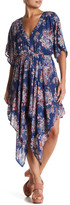 Ark & Co Print Handkerchief Hem Dress