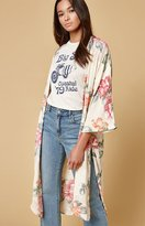 Honey Punch Floral Silk Kimono