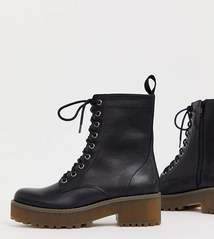 6a5a55b5aee Lace up Boots in Black