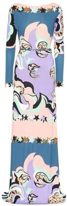 Emilio Pucci Belted printed maxi dress