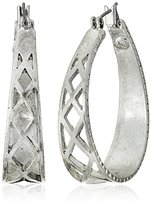 The Sak Silver Openwork Hoop Earrings