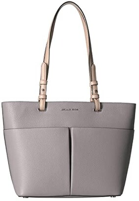 MICHAEL Michael Kors Bedford Medium Top Zip Pocket Tote (Pearl Grey) Tote Handbags