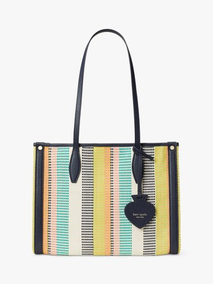 Kate Spade Canvas Woven Tote Bag, Multi