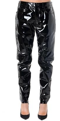Saint Laurent Black Patent Leather Five Pockets Pants
