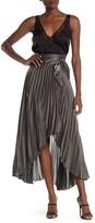 Do & Be Do + Be Pleated Wrap Metallic Skirt