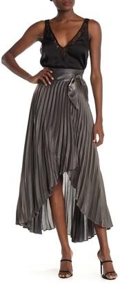 Do & Be Pleated Wrap Metallic Skirt