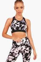 boohoo Lila Fit Camo Sports Bra